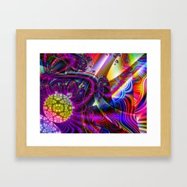 BBQSHOES: Fractal Digital Art Design 3114b Framed Art Print
