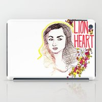 allison argent iPad Cases featuring Queen Argent by Grit Spit and a Whole Lot of Duct tape