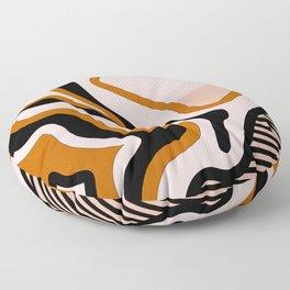 Beautiful Journey - Caramel and Cream Floor Pillow