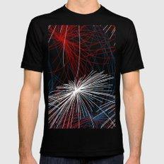 Fireworks 1 MEDIUM Black Mens Fitted Tee
