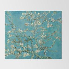 Almond Trees - Vincent Van Gogh Throw Blanket