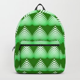Pattern of white hearts and greens on a lime background. Backpack