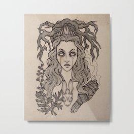 The Seeress Metal Print
