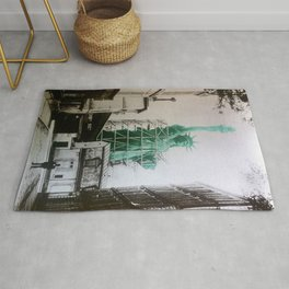 Statue of Liberty construction Rug