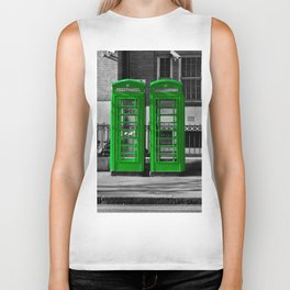 Phone box gone green  Biker Tank