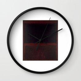 1960 Black on Dark Sienna On Purple by Mark Rothko Wall Clock