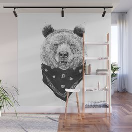 Wild bear Wall Mural