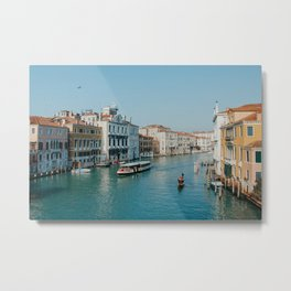 Gondola in the canals of Venice, Italy | Pastel colorful travel photography in Europe | Art Print Metal Print
