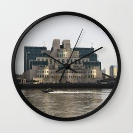 SIS Secret Service Building London And Rib Boat Wall Clock