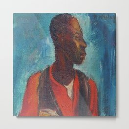 African American Masterpiece The Young Banjo Player by Hale Woodruff Metal Print