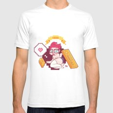 Babes & Videogames  SMALL White Mens Fitted Tee