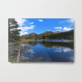 Sprague Lake And Cloud Reflection Metal Print