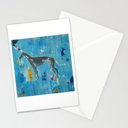 Greyhound Dog Abstract Painting Stationery Cards