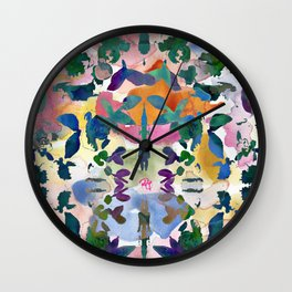 Floral Exclusion  Wall Clock