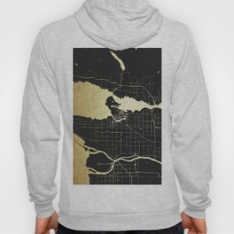 Vancouver Canada Black and Gold Map Hoody