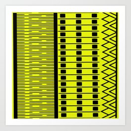 YELLOW YELLOW YELLOW Art Print