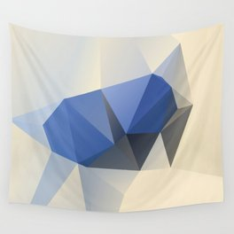 Cremeblue Wall Tapestry