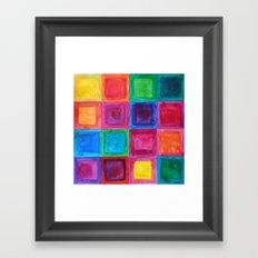 Tiled abstract 1 Framed Art Print