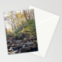 Boone Fork Creek in Autumn Stationery Cards
