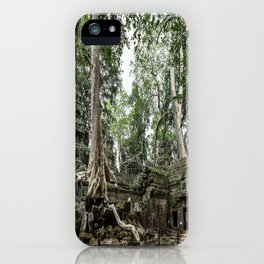 Ta Phrom, Angkor Archaeological Park, Siem Reap, Cambodia iPhone Case