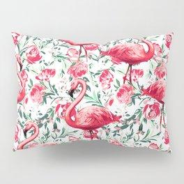 Flowers and Flamingos Pillow Sham