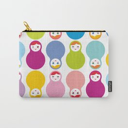 dolls matryoshka on white background Carry-All Pouch