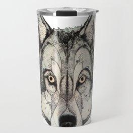 Wolf Mask Travel Mug