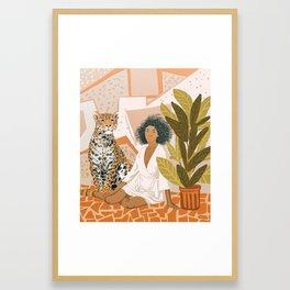 House Guest Framed Art Print