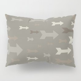 Arrows of different sizes and pastel colors. Pillow Sham