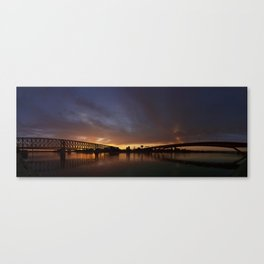 Sunset symmetry Canvas Print