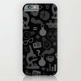Grey and Black Science Pattern iPhone Case