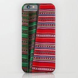 Cretan traditional hand woven textiles iPhone Case