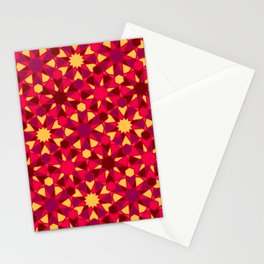 Spanish Director - Al-Nasir Pattern Red with Red Lines Stationery Cards