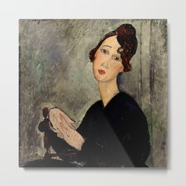 "Amedeo Modigliani ""Portrait of Dedie"" Metal Print"