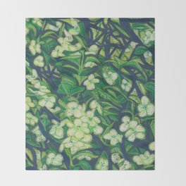 Expressionist Sweet Flowers Throw Blanket