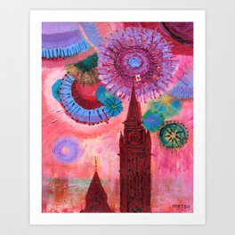 Canada Day #Red Art Print