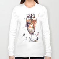 no face Long Sleeve T-shirts featuring Face by Laake-Photos