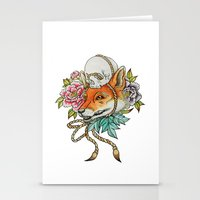kitsune Stationery Cards featuring Kitsune by Rescue & Ramona