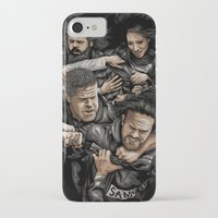 sons of anarchy iPhone & iPod Cases featuring Sons of Anarchy-War by Denis O'Sullivan