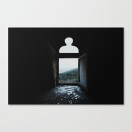 Shattered view Canvas Print