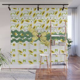Sunny The Sunflowers Wall Mural