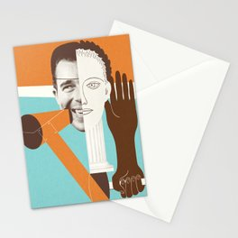 the face - funny abstract collage of Faces and Hands illustration Stationery Cards
