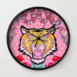SupLV Pink Tiger Wall Clock
