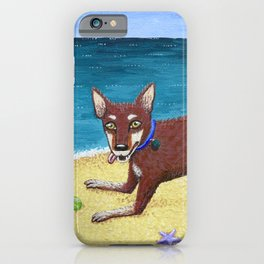 Red Dog Playing iPhone Case