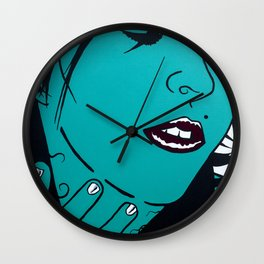 Who's that Girl-Green Wall Clock
