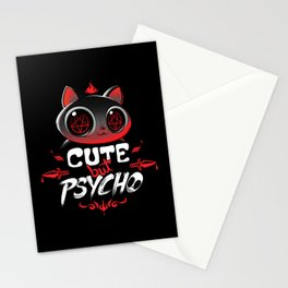 Cute But Psycho Stationery Cards
