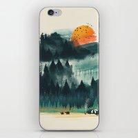 camp iPhone & iPod Skins featuring Wilderness Camp by dan elijah g. fajardo