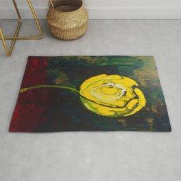 Golden Yellow Rose Acrylic Rug