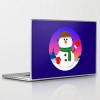 snowman Laptop & iPad Skins featuring SnowMan by tuditees