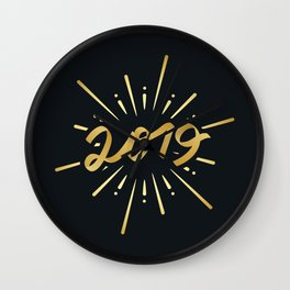 Happy New Year Silvester Firework Gift Idea Wall Clock